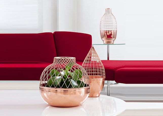 Grid vase for Gaia and Gino 13 - Copper