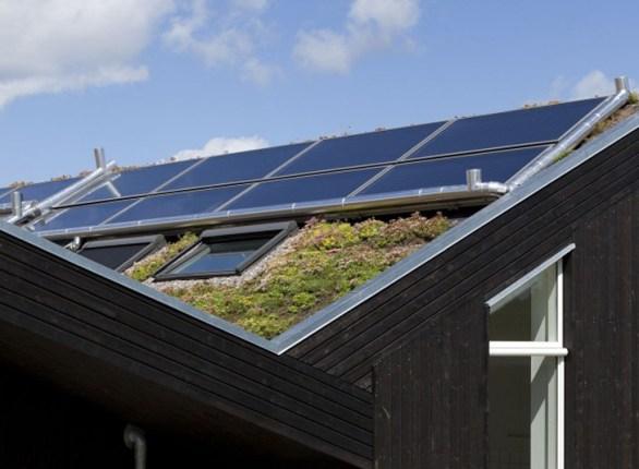 christensen sunhouse1 Green roof หลังคาพลังงานแสงอาทิตย์ ปลูกต้นไม้ได้อีก