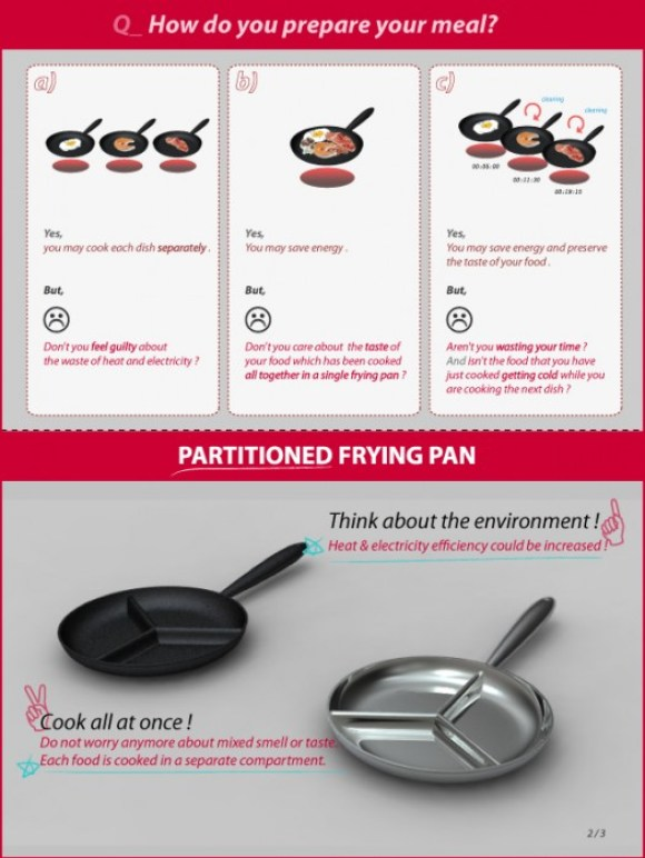 Partitioned Frying Pan 15 - pan
