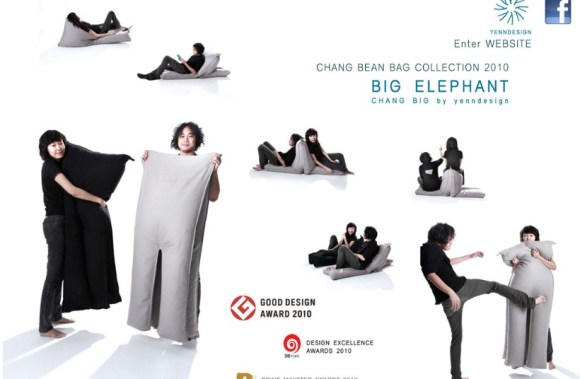 Chang big and Chang lek, original design by yenndesign 14 - Beanbag