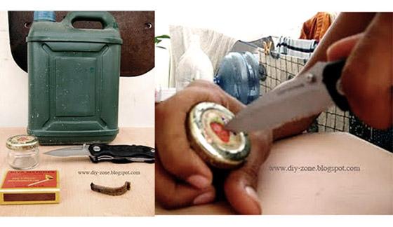 DIY ของใช้ยามน้ำท่วม-ตะเกียงขวดแก้ว 14 -