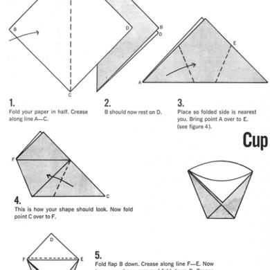 How To Make Origami Cups ภาชนะกระดาษใส่น้ำและอาหารแห้งยามน้ำท่วม 31 - DIY