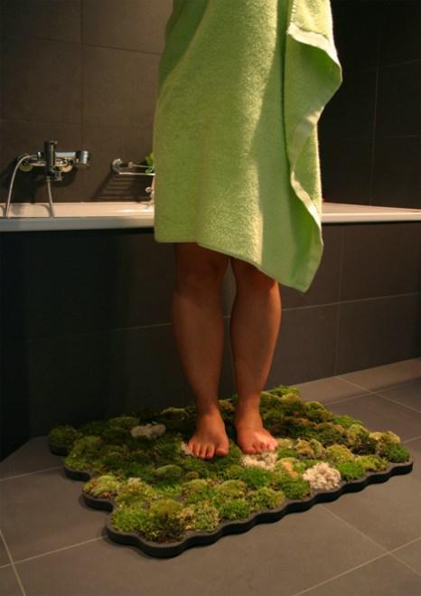 moss carpet2 สวนเล็กๆ ในพรมเช็ดเท้า ประจำห้องน้ำของคุณ
