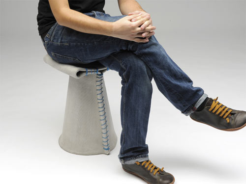 Stitching Concrete Chair 13 - canvas