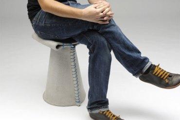 Stitching Concrete Chair 19 - concrete