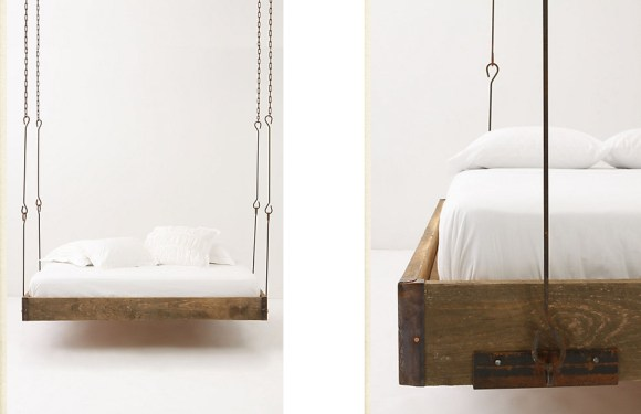 tmds1 DesignAndLifestyle NewYork Blog InteriorDesign RusticBedroomInspiration BedFromAnthropologie 2 HighResolution 580x375 Hanging Beds เตียงนอนลอยหนีน้ำท่วม