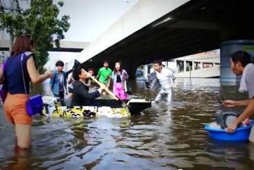 ไอเดียสร้างสรรค์สุดๆ..Ready Boat เรือพกพาจากแผ่นฟิวเจอร์บอร์ด 16 - flood