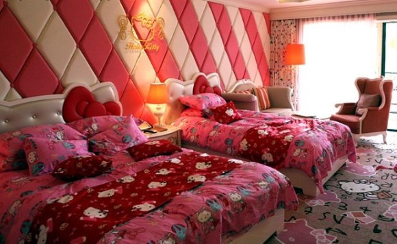 2449585277 580x356 ไปทัวร์ Hello Kitty room ที่เกาะเชจูเกาหลี