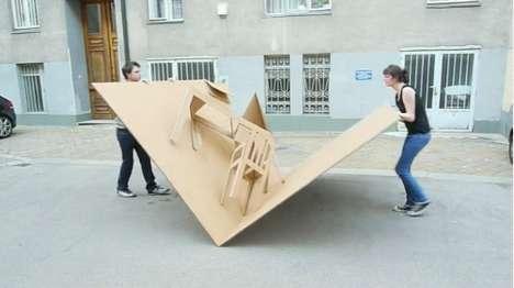 เฟอร์นิเจอร์ชุดพร้อมอพยพ..ชุดพับเก็บยกขึ้นชั้น2 สบายๆ 17 - cardboard