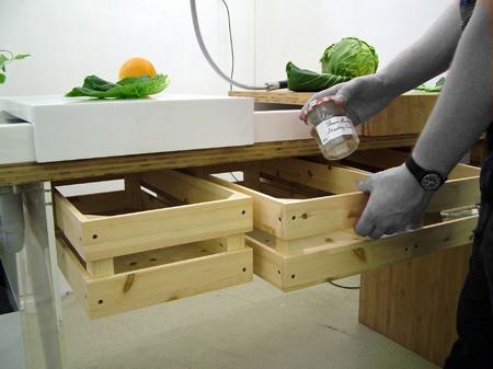 dezeen recycle ห้องครัวในยุคต่อไป..ต้องนำขยะและน้ำทิ้งกลับมาใช้ปลูกผักในครัวได้