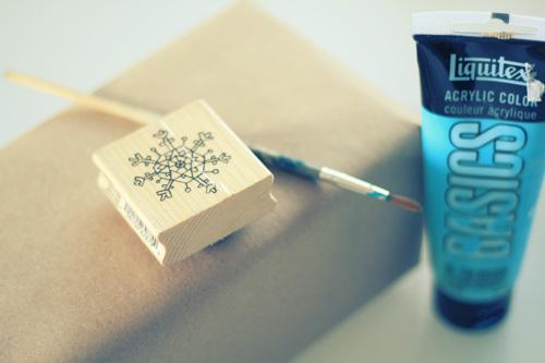 package2 DIY Wrapping Paper Tutorial  ถึงเวลาห่อของขวัญ