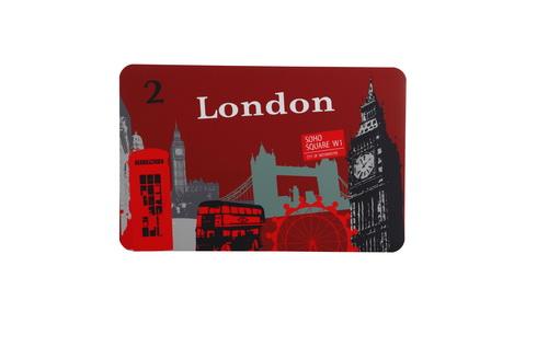 """20.LONDON ราคา 55 บาท resize1 เติมความสนุกให้บ้าน  ด้วยเฟอร์นิเจอร์ ของตกแต่งบ้านโทน """"สีแดง"""""""
