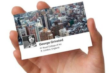 facebook card..นามบัตร social business cards 2 - Moo