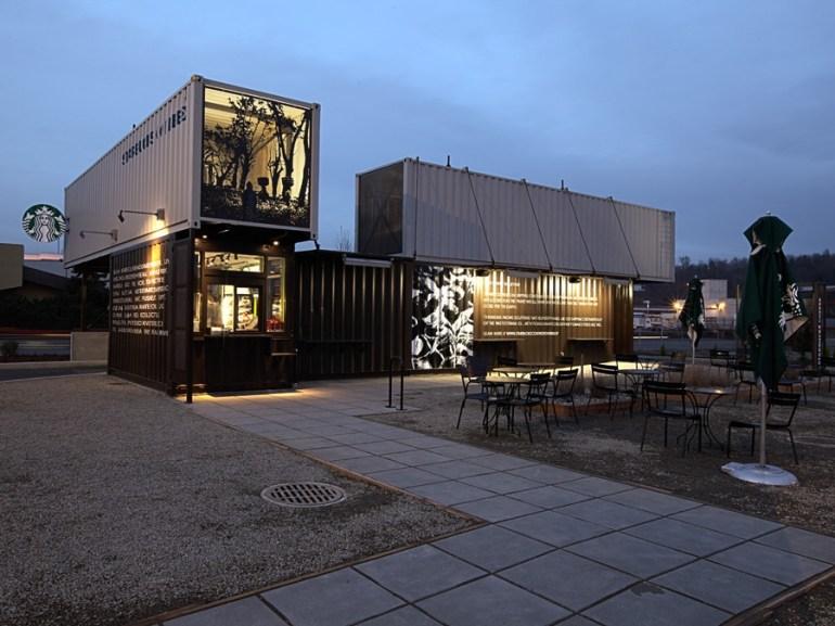 Starbucks สาขานี้ทำจากตู้คอนเทนเนอร์ 16 - Architecture