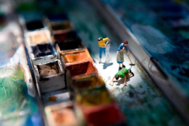 miniature world from Plastic Life Book 31 - photography