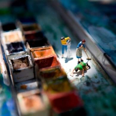 miniature world from Plastic Life Book 18 - miniature