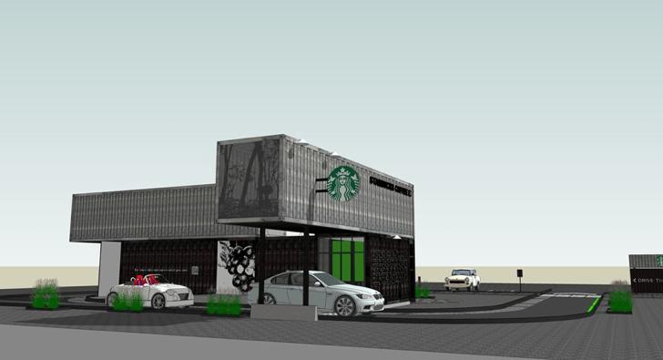 Starbucks สาขานี้ทำจากตู้คอนเทนเนอร์ 14 - Architecture