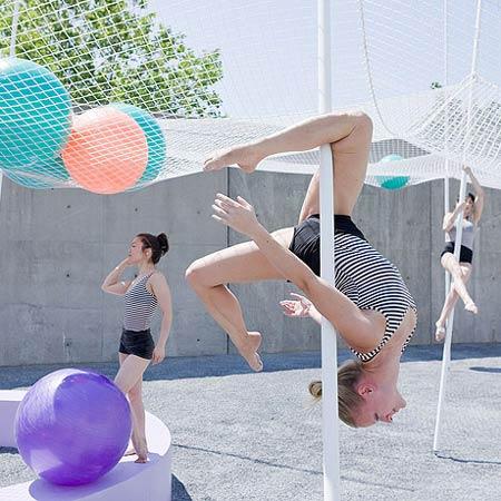 dzn Pole Dance by SO IL 1 Pole Dance: Contemporary Art Centre in New York