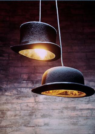 โคมไฟหมวก 14 - DIY