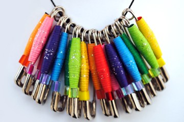 DIY.Paper Beads and Necklaces 10 - necklace