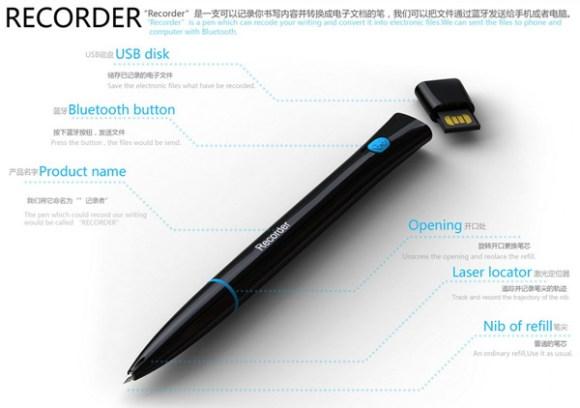 recorder pen5 580x408 Magic Pen