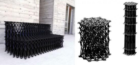Y 4 550x257 XXXX Sofa โซฟารีไซเคิลจากขวดพลาสติกจำนวน 8,000 ชิ้น และวงแหวนอีก 2,000 วง