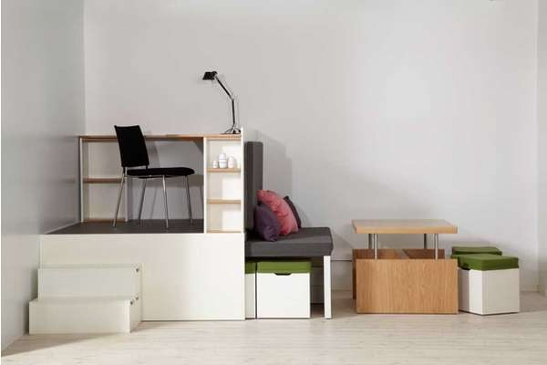 ตกแต่งห้องพื้นที่เล็ก..Compact Multi-Room Moveables 13 - เฟอร์นิเจอร์