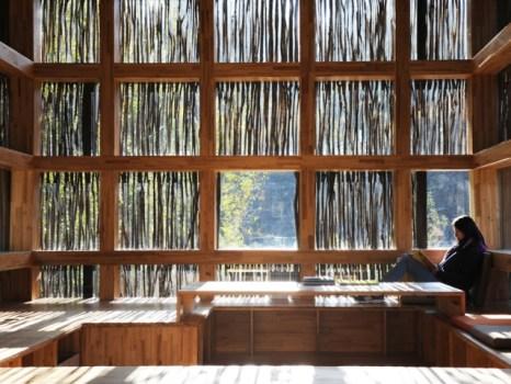 68384 slide 466x350 LiYuan Library ห้องสมุดเล็กๆท่ามกลางป่าเขา