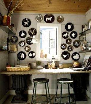 Art+decor+design+interior design+bohemian+wall art+plates+platters12 307x350 PLATE WALL