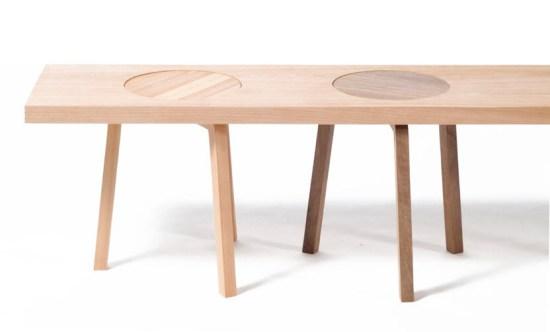 05 Hockerbank 550x332 เก้าอี้สตูว์ + ม้านั่ง ในชิ้นเดียว เรียบง่ายแนว Minimalist