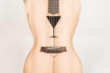 Female Form 6 String Acoustic Guitar กีต้าร์โปร่งแนวๆ นู้ด..แต่อาร์ต