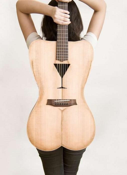 25550426 191524 Female Form 6 String Acoustic Guitar กีต้าร์โปร่งแนวๆ นู้ด..แต่อาร์ต