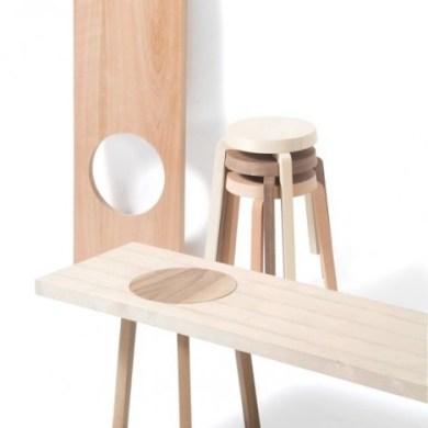 เก้าอี้สตูว์ + ม้านั่ง ในชิ้นเดียว เรียบง่ายแนว Minimalist 18 - Bench