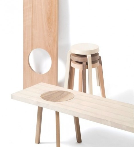 เก้าอี้สตูว์ + ม้านั่ง ในชิ้นเดียว เรียบง่ายแนว Minimalist 26 - minimalist