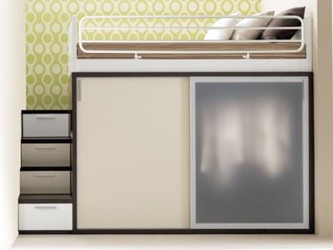เฟอร์นิเจอร์ สำหรับพื้นที่จำกัด..เตียง+ตู้+โต๊ะทำงาน ในชิ้นเดียว 15 - bunk bed
