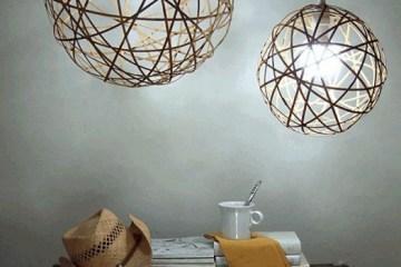 D.I.Y. โคมไฟจากไม้ไผ่ 6 - bamboo lamp