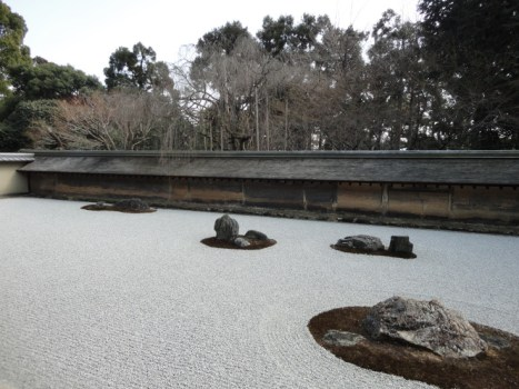 สวนหิน แบบเซ็น ที่วัด Ryōan-ji ..ในเมืองเกียวโต 17 - Ryōan-ji