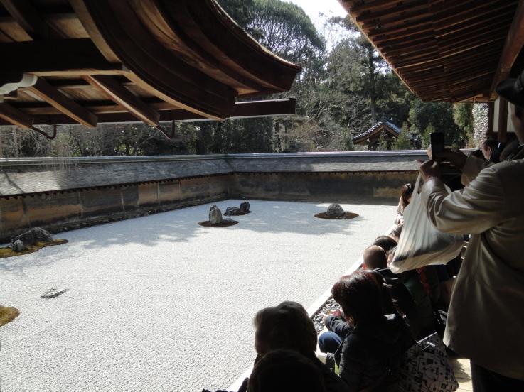 สวนหิน แบบเซ็น ที่วัด Ryōan-ji ..ในเมืองเกียวโต 13 - Ryōan-ji