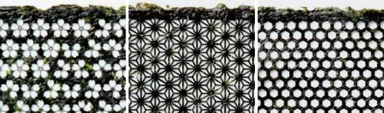 designnori02 550x162 Design nori เมื่อสาหร่ายทำซูชิมีลวดลาย