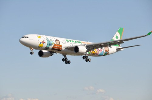 hk1 Hello kitty airplane for EVA air สายการบินนี้มีแต่คิตตี้