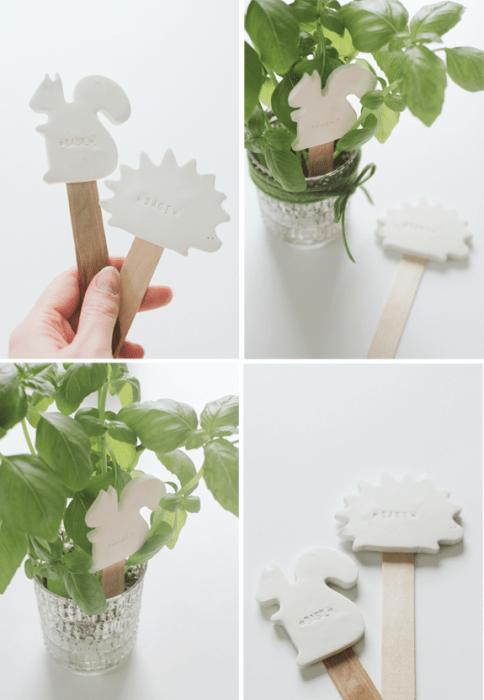 DIY:CLAY PLANT LABELS 13 - DIY