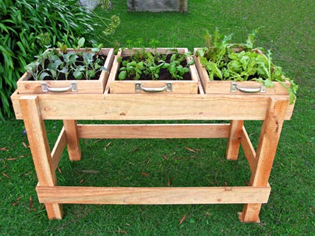 salad bench FP1 DIY: Garden Bench ลิ้นชัก กระถางใบใหม่ของเหล่าต้นไม้และพืชพรรณขนาดเล็ก