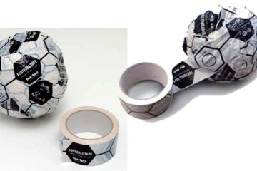 """Magis FOOTBALL TAPE"" DIY FOOTBALLs"