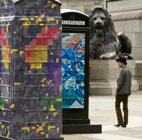 25550620 231046 นิทรรศการงานศิลปะกลางแจ้ง จากตู้โทรศัพท์สาธารณธะของอังกฤษ..นับถอยหลังโอลิมปิค