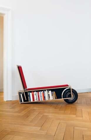 25550623 100049 เก้าอี้ที่เก็บหนังสือ ..แถมติดล้อเคลื่อนย้ายสะดวก