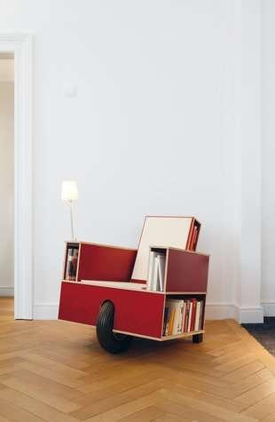 25550623 100106 เก้าอี้ที่เก็บหนังสือ ..แถมติดล้อเคลื่อนย้ายสะดวก
