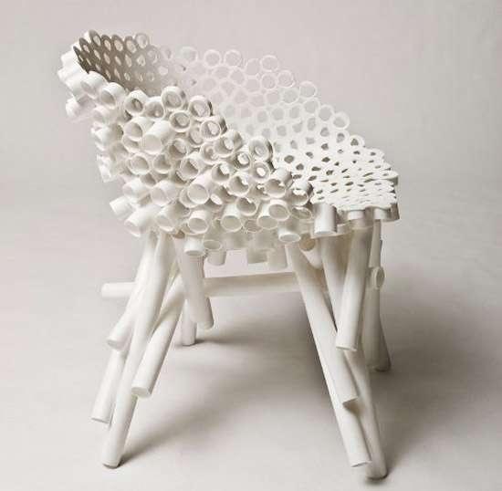 25550623 105027 เก้าอี้จากท่อ PVC รีไซเคิล