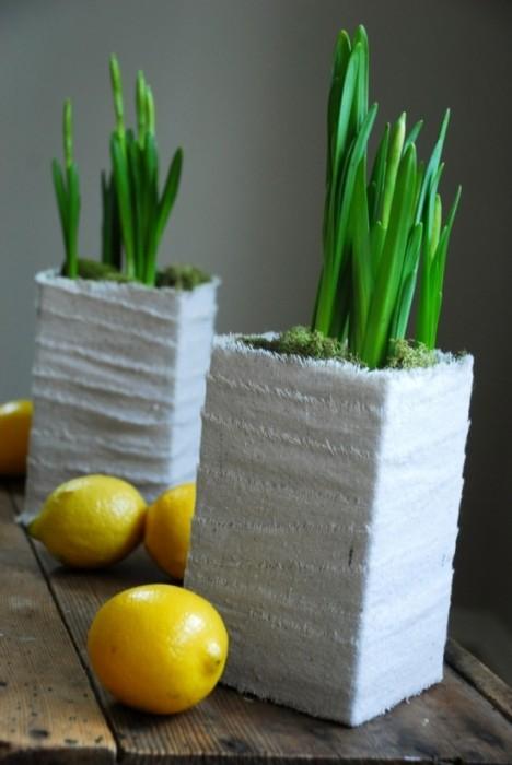 DIYทำกระถางปลูกต้นไม้ จากกล่องนมใช้แล้ว 13 - รีไซเคิล