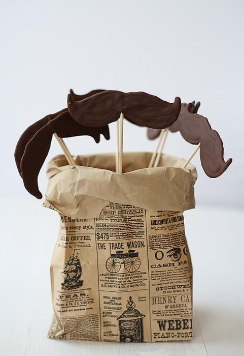 DIY.Chocolate moustache lollipops ของหวานหนวดๆ 13 - Chocolate