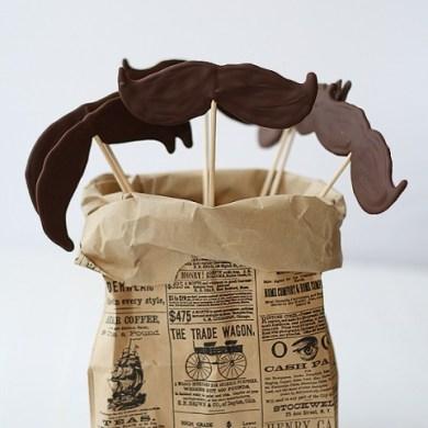 DIY.Chocolate moustache lollipops ของหวานหนวดๆ 21 - Chocolate